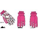 ПЕРЧАТКИ лыжные утепленные КИТТИ 3-4 года